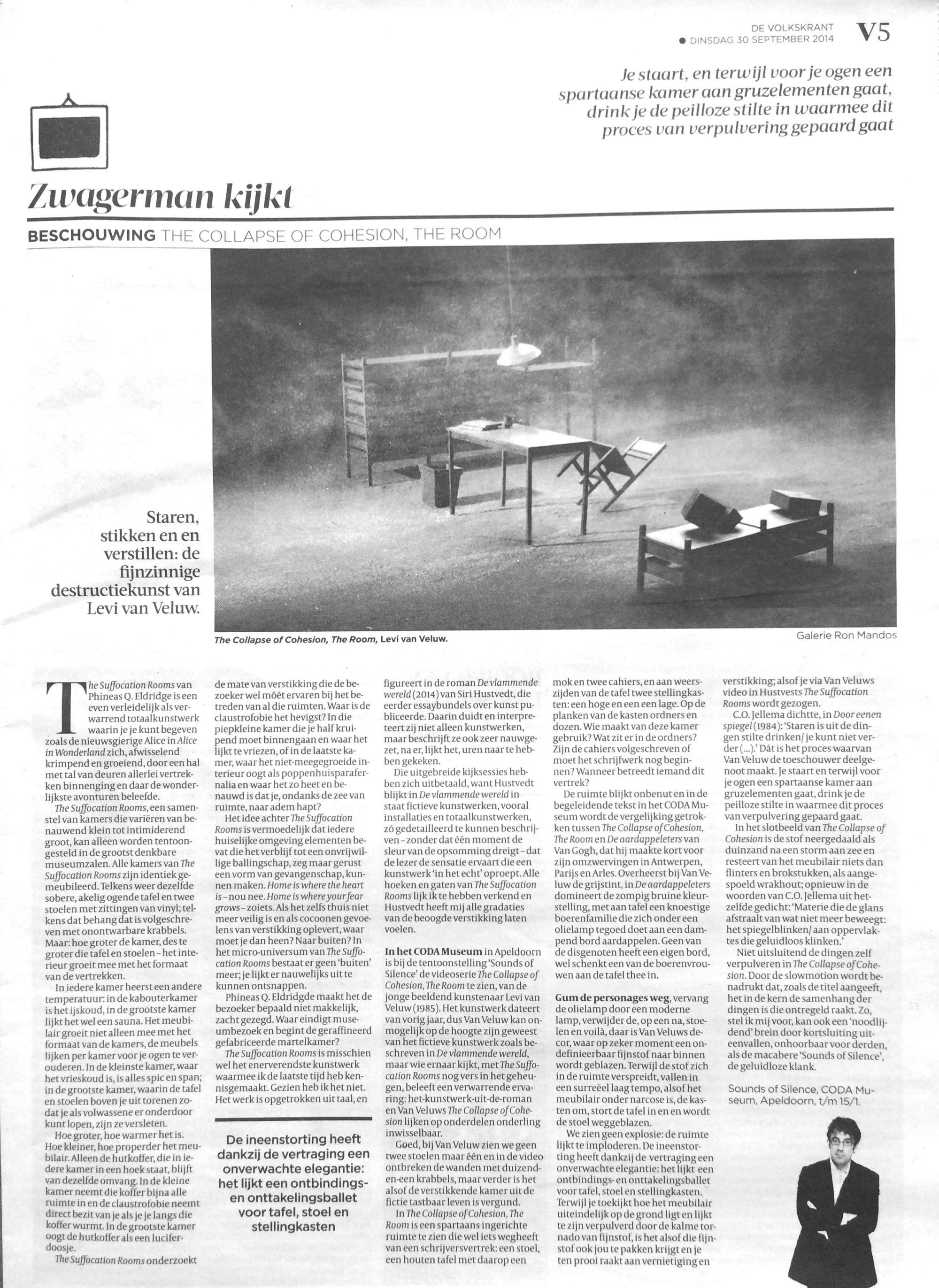 LEVI VAN VELUW   De Volkskrant