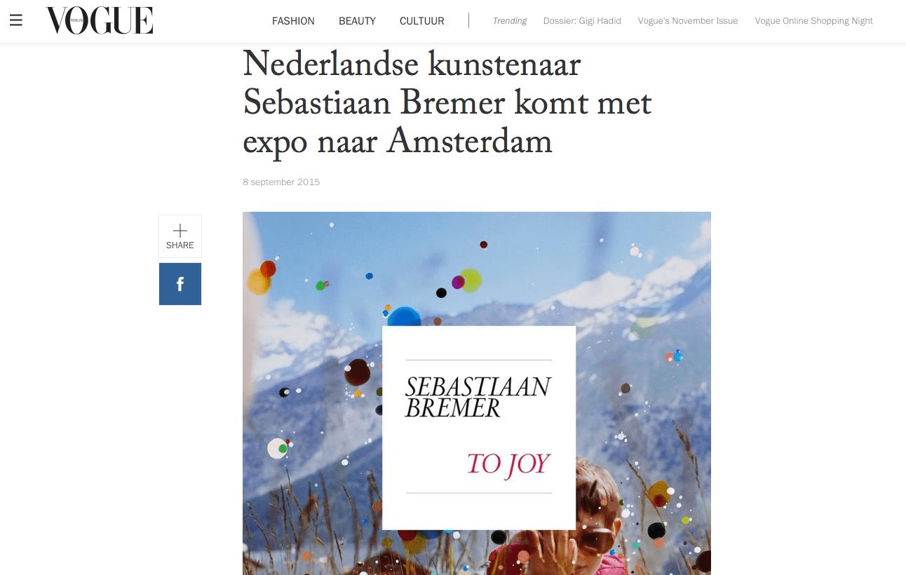 VOGUE | Sebastiaan Bremer