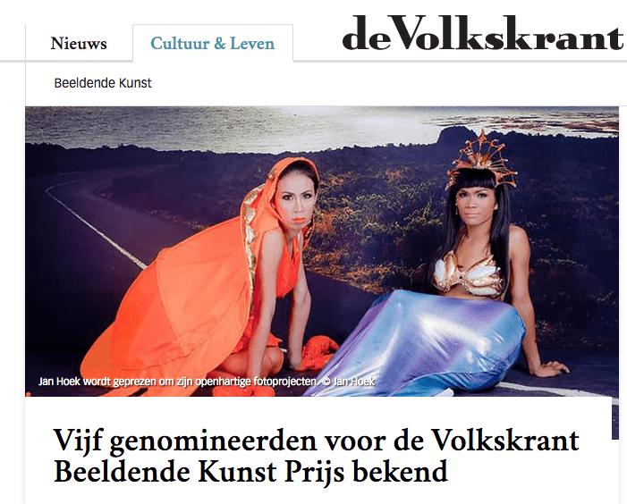 Jan Hoek genomineerd Volkskrant Beeldende Kunst Prijs