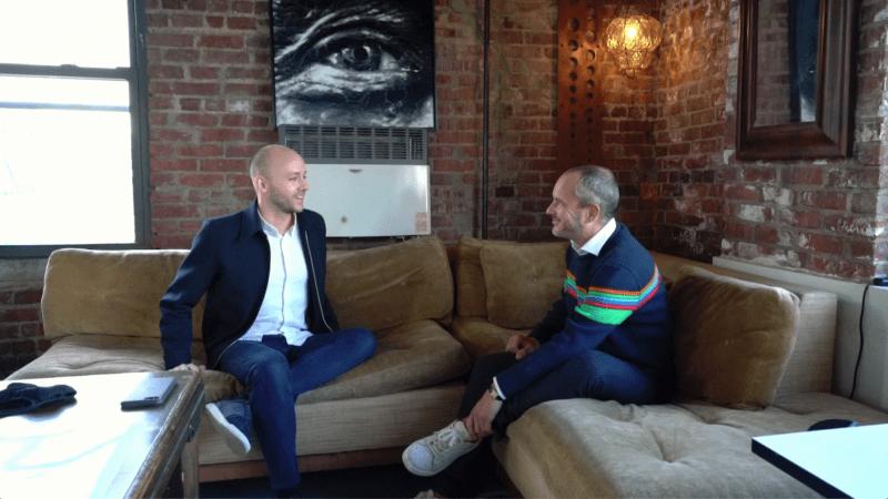 Sebastiaan Bremer en Frederik Schampers in gesprek