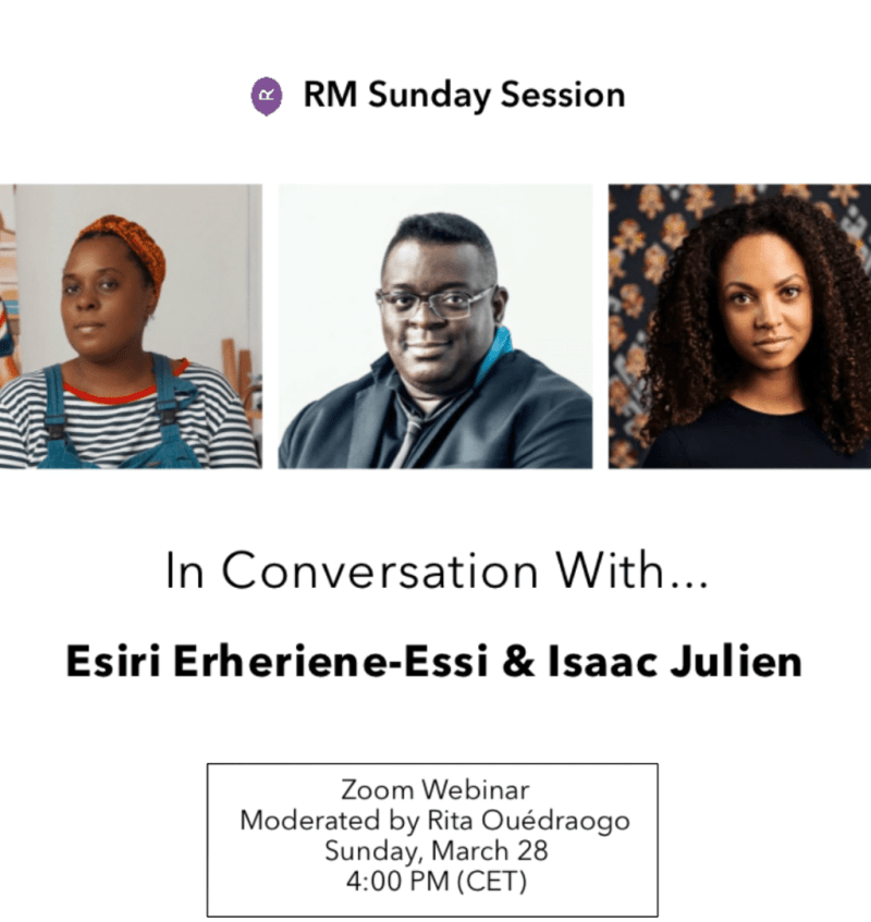 Watch now: Isaac Julien and Esiri Erheriene-Essi in conversation
