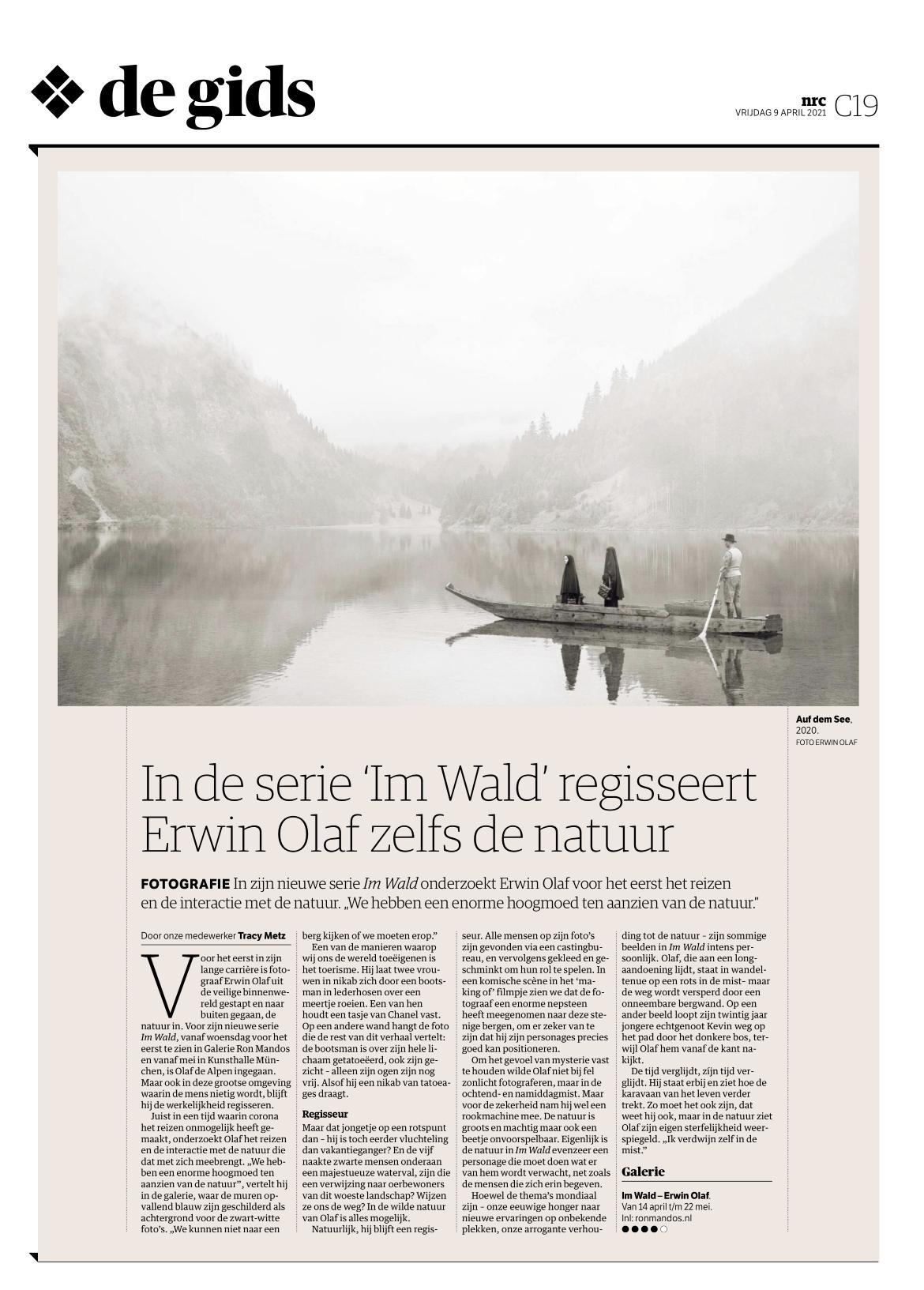 NRC: In de serie 'Im Wald' regisseert Erwin Olaf zelfs de natuur