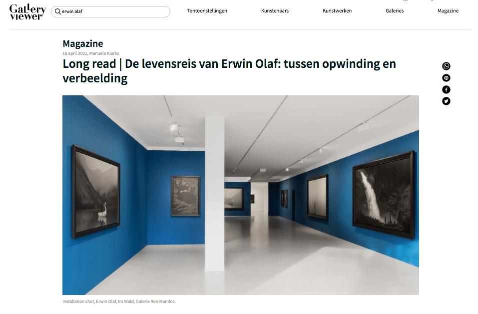 Gallery Viewer | De levensreis van Erwin Olaf: tussen opwinding en verbeelding